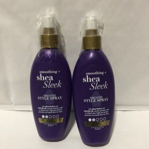 2x Ogx Smoothing Shea Sleek Style Spray